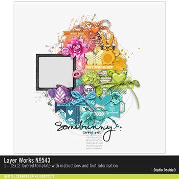 Layer Works No. 543 Layered Template Digital Art - Digital Scrapbooking Kits