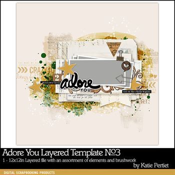 Adore You Layered Template No. 03