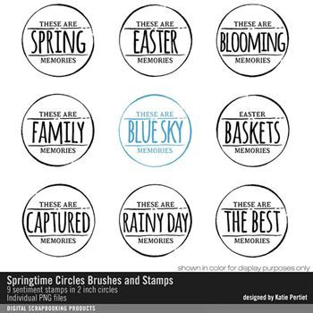 Springtime Circles Brushes And Stamps