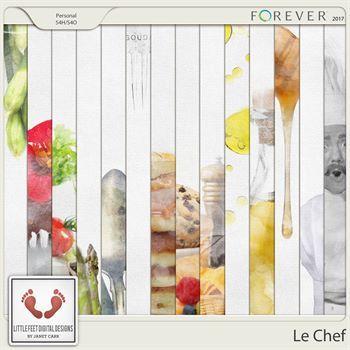 Le Chef Clean Burlap Artistic Paper
