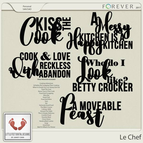 Le Chef Word Art