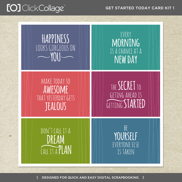 Get Started Today Card Kit 1