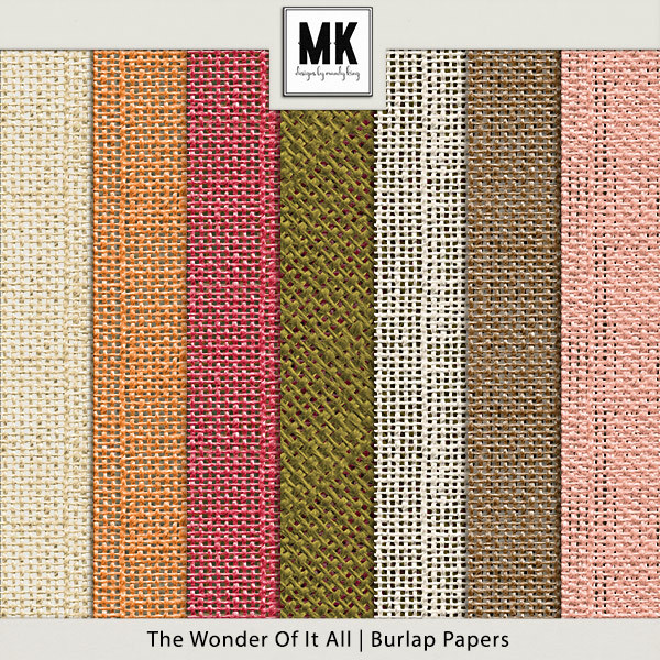 The Wonder Of It All - Burlap Papers