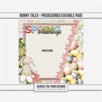 Bunny Tales - Pre-designed Page