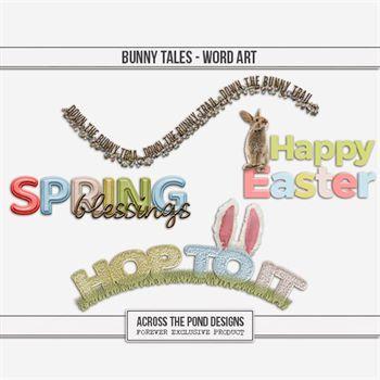Bunny Tales - Word Art