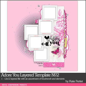 Adore You Layered Template No. 02