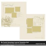 My Family Genealogy Layered Template No. 04
