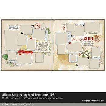 Album Scraps Layered Templates No. 01