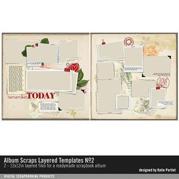 Album Scraps Layered Templates No. 02