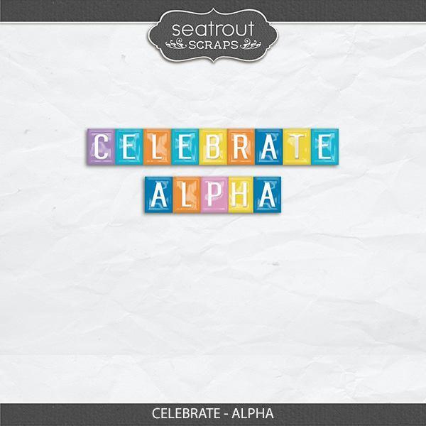 Celebrate - Alpha Digital Art - Digital Scrapbooking Kits