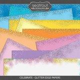 Celebrate - Glitter Edge Papers