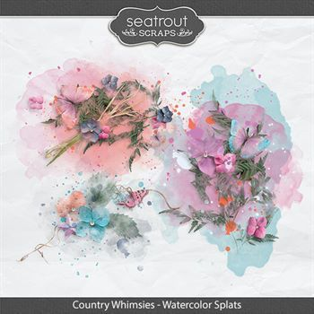 Country Whimsies - Watercolor Splats