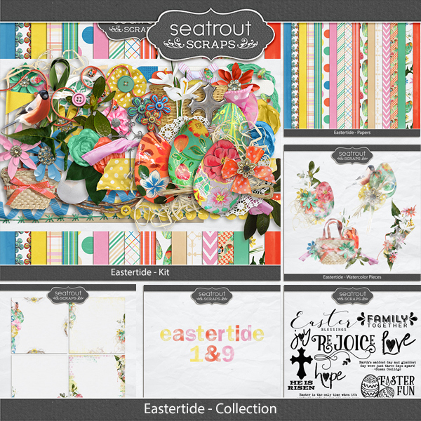 Eastertide - Discounted Bundle Digital Art - Digital Scrapbooking Kits