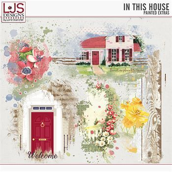 In This House - Painted Extras Digital Art - Digital Scrapbooking Kits