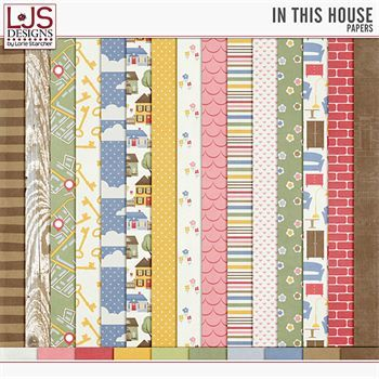 In This House - Papers Digital Art - Digital Scrapbooking Kits