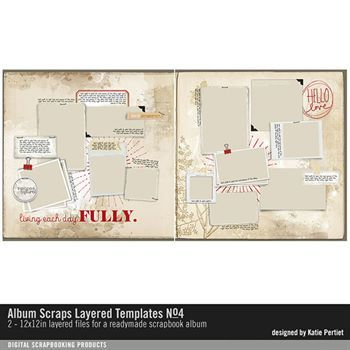 Album Scraps Layered Templates No. 04