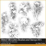 Misted Silhouettes Brushes And Stamps No. 01