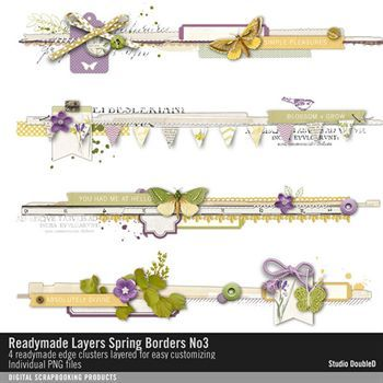 Readymade Layers Spring Borders No. 03