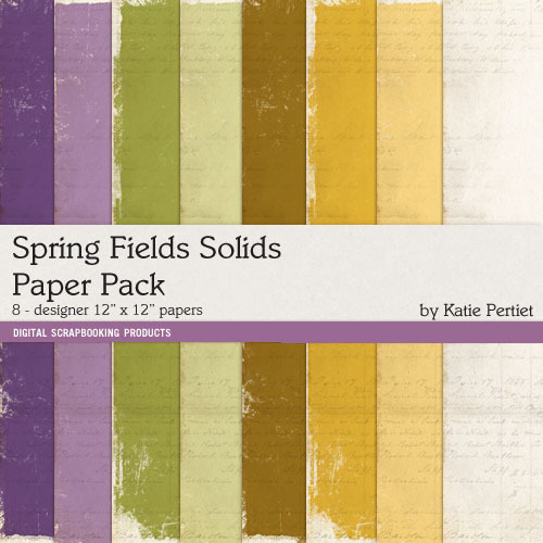 Spring Fields Solids Paper Pack