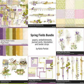 Spring Fields Complete Scrapbooking Bundle