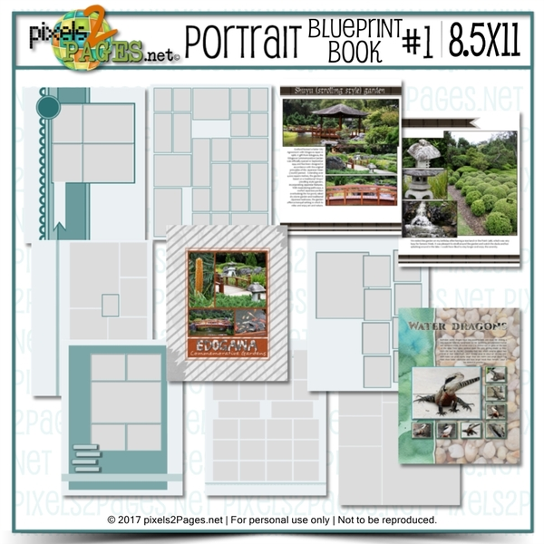 8.5x11 Portrait Blueprint Book #1