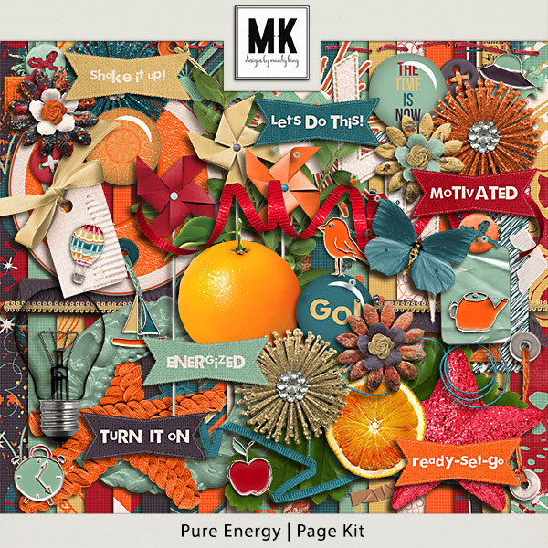 Pure Energy - Page Kit Digital Art - Digital Scrapbooking Kits