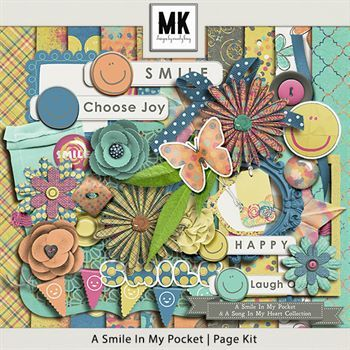 Smile In My Pocket & A Song In My Heart - A Smile In My Pocket Page Kit