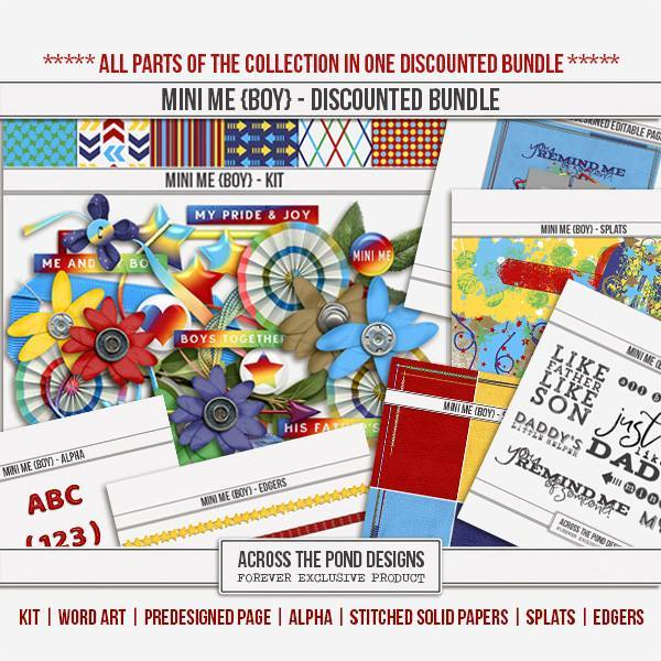 Mini Me - Boy Discounted Bundle Digital Art - Digital Scrapbooking Kits