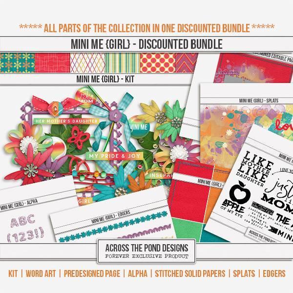 Mini Me - Girl Discounted Bundle Digital Art - Digital Scrapbooking Kits