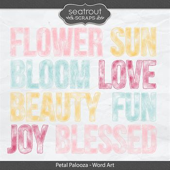 Petal Palooza Word Art