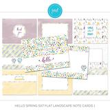 Hello Spring 5x7 Flat Note Cards Mega Bundle