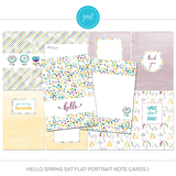 Hello Spring 5x7 Flat Portrait Note Cards 1