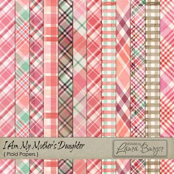 I Am My Mothers Daughter Plaid Papers