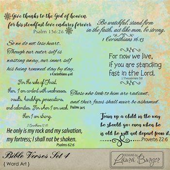 Bible Verses Set 4