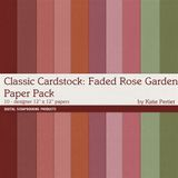 Classic Cardstock Faded Rose Garden Paper Pack