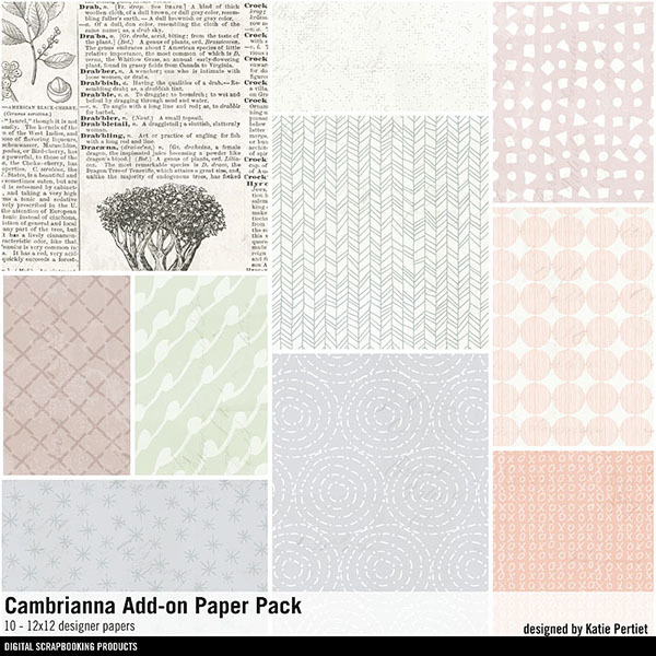 Cambrianna Add-on Paper Pack