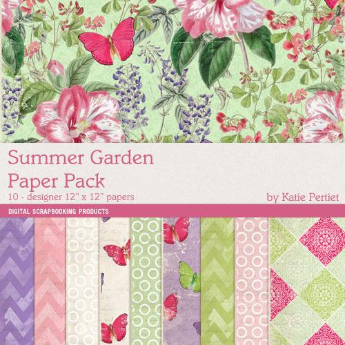 Summer Gardens Paper Pack