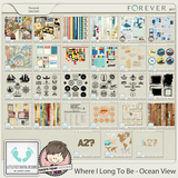 Where I Long To Be - Ocean View Journal Cards, Tags & Stickers