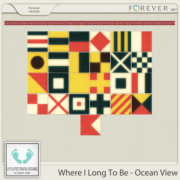 Where I Long To Be - Ocean View Nautical Flags
