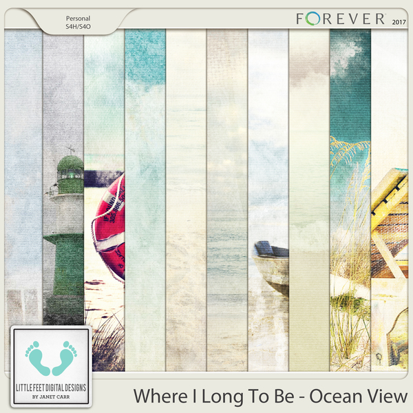 Where I Long To Be - Ocean View Painted Papers