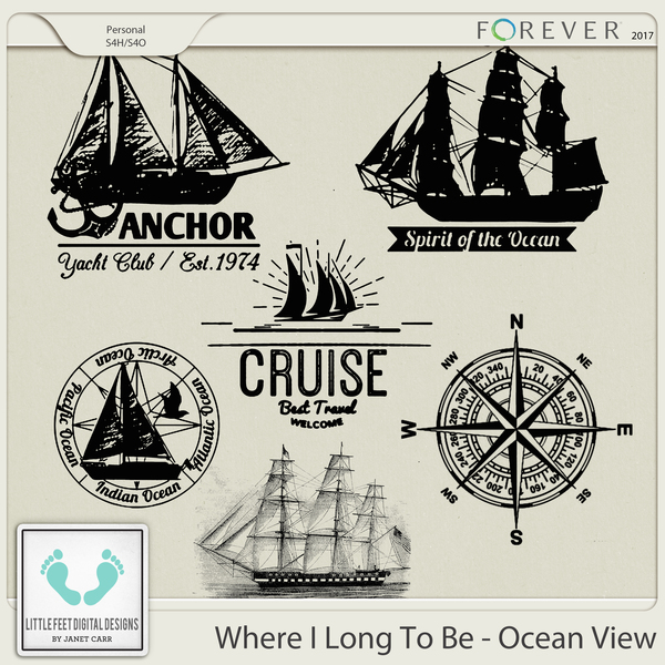 Where I Long To Be - Ocean View Stamps
