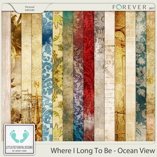 Where I Long To Be - Ocean View Vintage Papers