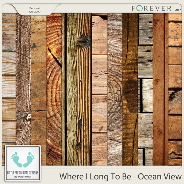 Where I Long To Be - Ocean View Wood Papers