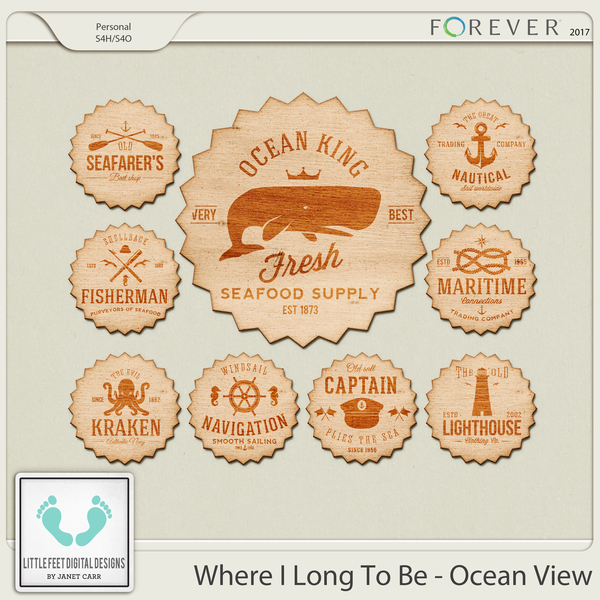 Where I Long To Be - Ocean View Wood Stickers
