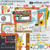 Chalkboard Lessons Page Pak