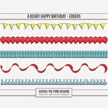 A Beary Happy Birthday - Edgers Digital Art - Digital Scrapbooking Kits