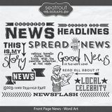 Front Page News - Word Art