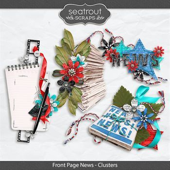 Front Page News - Clusters Digital Art - Digital Scrapbooking Kits