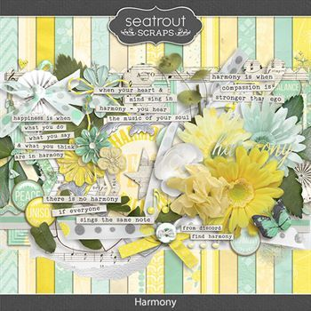 Harmony Kit Digital Art - Digital Scrapbooking Kits