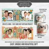 Love Mom Mugs - Predesigned And Editable